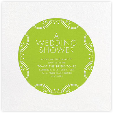 Wedding Shower - Green - bluepoolroad -