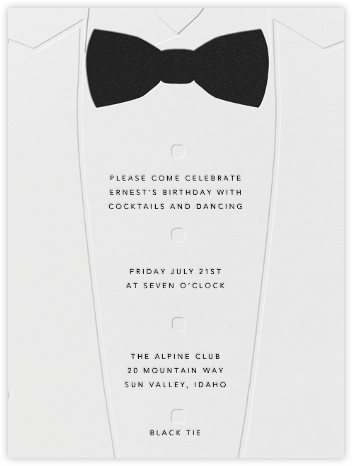 Theme party invitations online at paperless post white tuxedo stopboris Image collections