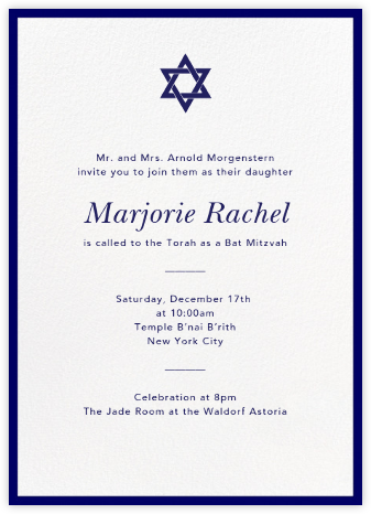 Contorno - Blue - Paperless Post - Bar and Bat Mitzvah Invitations