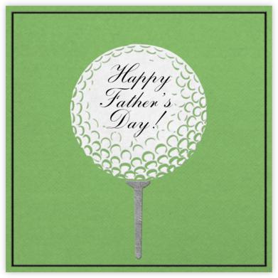 Golf Ball - Green - Paperless Post