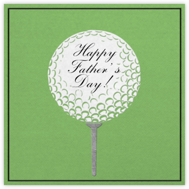 Golf Ball - Green - Paperless Post - Father's Day cards