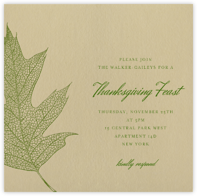 Oak - green - Paperless Post - Thanksgiving invitations