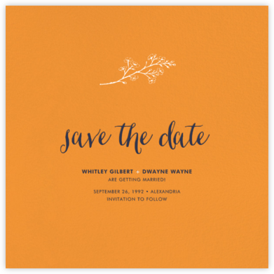Tangelo (Save the Date) - Paperless Post - Online Party Invitations