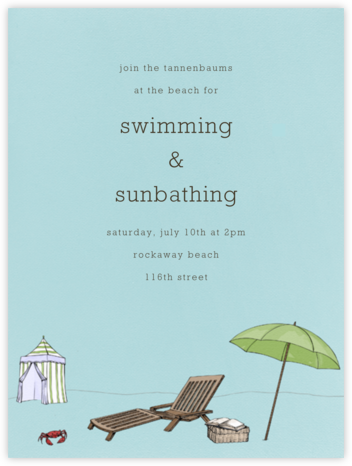 Beach Vignette - Light Blue - Paperless Post - Summer entertaining invitations