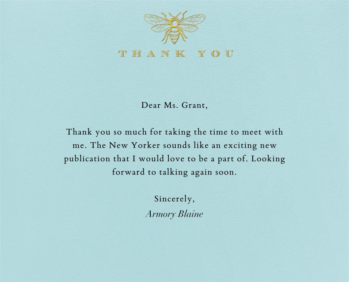 Bee Thank You - Light Blue - Paperless Post -