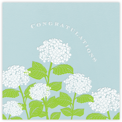 Congratulations Hydrangea (Light Blue) - Paperless Post