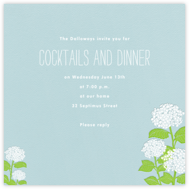 Hydrangea (Light Blue) - Paperless Post - Online Party Invitations