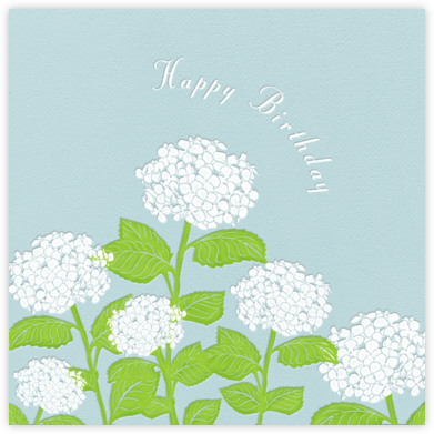 Hydrangea (Light Blue) - Paperless Post - Birthday cards