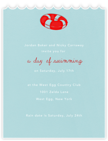Inner Tube - Paperless Post - Summer Party Invitations