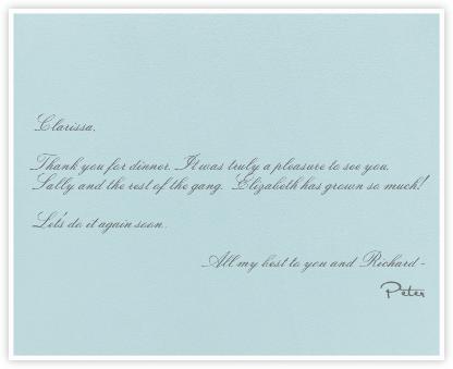 Light Blue - White Stripe - Paperless Post -