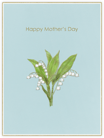 Lily of the Valley (Light Blue) - Paperless Post - Mother's Day Cards
