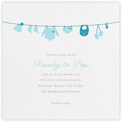 Onesie - Blue - Paperless Post - Baby Shower Invitations
