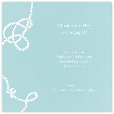 Wedding Knot (Light Blue) - Paperless Post - Engagement party invitations