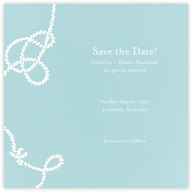 Wedding Knot (Light Blue) - Paperless Post - Save the dates
