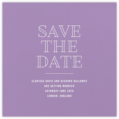 Lilac - Paperless Post - Save the dates