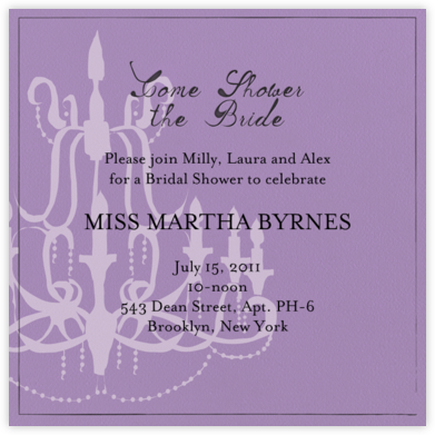Oh Lovely Day - Wisteria - Mr. Boddington's Studio - Bridal shower invitations