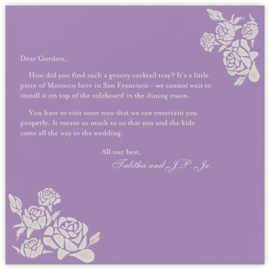 Roses- Lilac with Oyster (Square) - Paperless Post -