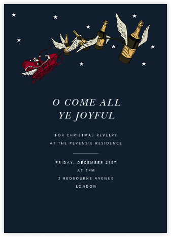 Champagne Sleigh (Tall) - Paperless Post - Invitations