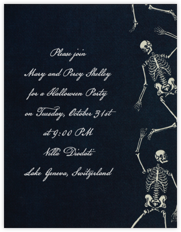 Danse Macabre - Paperless Post - Halloween invitations
