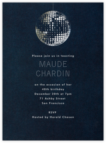 Disco - Paperless Post - Adult Birthday Invitations