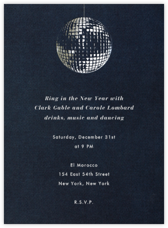Disco - Paperless Post - New Year's Eve Invitations