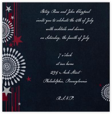 Fireworks (Navy) - Paperless Post -