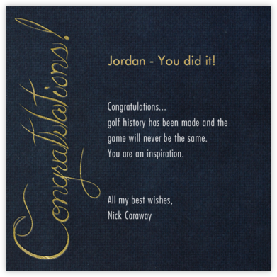 Formal Congratulations (Midnight) - Paperless Post -