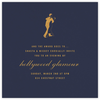 Navy Blue (Square) - Paperless Post - Viewing Party Invitations