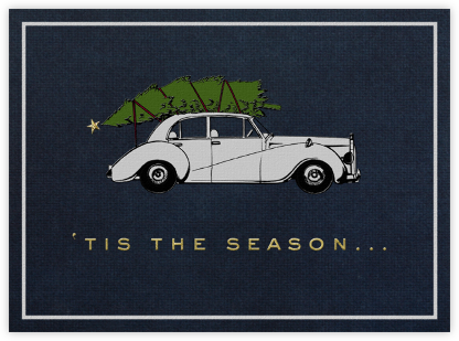 Rolls Royce Christmas (Double Sided) - Paperless Post -