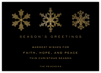 Snowflakes - Black - Paperless Post - Holiday cards