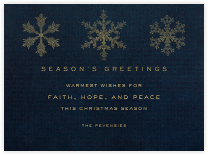 Snowflakes - Midnight - Paperless Post - Holiday cards