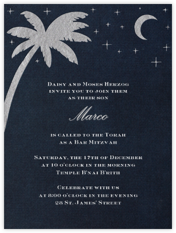 South Pacific (Silver) - Paperless Post - Invitations