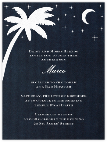 South Pacific (White) - Paperless Post - Bar and Bat Mitzvah Invitations