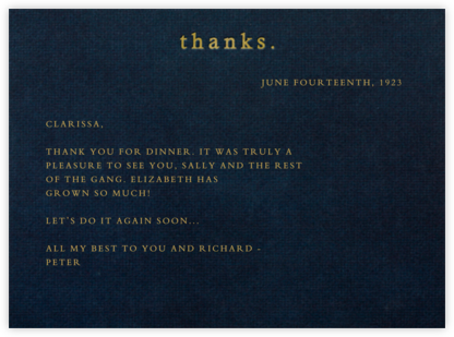 Thanks (Midnight) - Paperless Post - General thank you notes