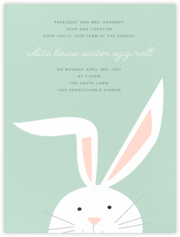 Bunny - Mint - Paperless Post - Easter invitations