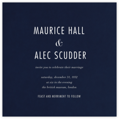 Navy (Square) - Paperless Post - Wedding Invitations