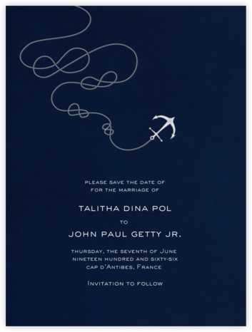 Port of Call - Navy Ivory - Paperless Post - Online Party Invitations