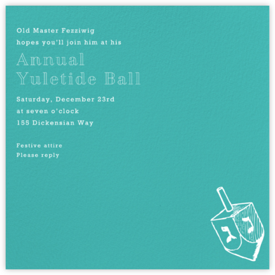 Persian Green (Square) - Paperless Post - Hanukkah Invitations