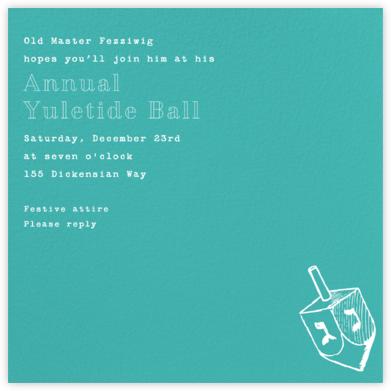 Persian Green (Square) - Paperless Post - Hanukkah invitations