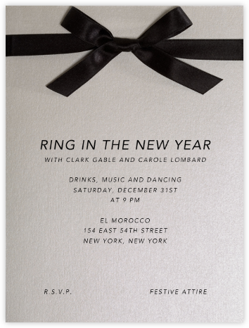 Avenue Montaigne - Paperless Post - New Year's Eve Invitations