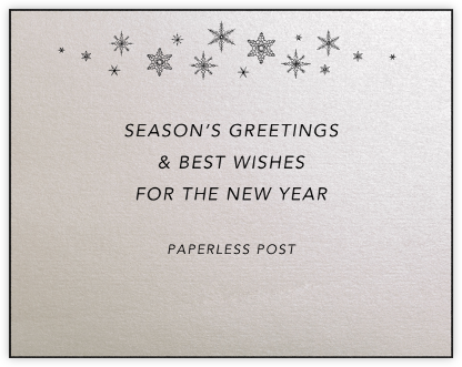 Snowflakes (Oyster) - Paperless Post -