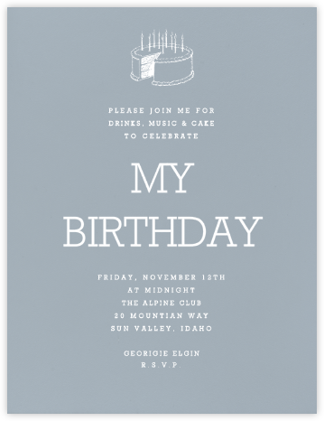 Pacific (Tall) - Paperless Post - Adult Birthday Invitations