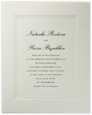 Parthenon (Large Tall) - Paperless Post - Wedding invitations