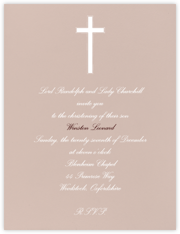 Rose (Tall) - Paperless Post - Christening Invitations