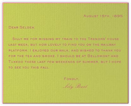 Pistachio - Pink Bevel - Paperless Post -