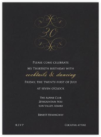 Milestone - 30th - Bernard Maisner - Milestone birthday invitations