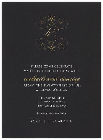 Milestone - 45th - Bernard Maisner - Milestone Birthday Invitations