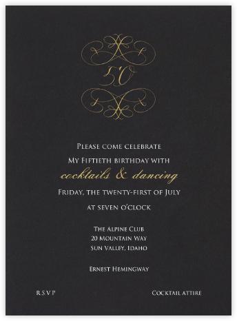Milestone - 50th - Bernard Maisner - 50th Birthday Invitations