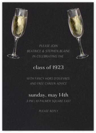 Champagne Glasses - Paperless Post - Celebration invitations