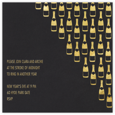 Champagne Gold (black) - Paperless Post - New Year's Eve Invitations